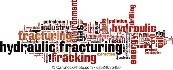 Hydraulic Fracturing word cloud - csp24035450