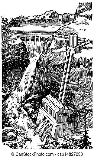 Hydro electric dam - csp14827230