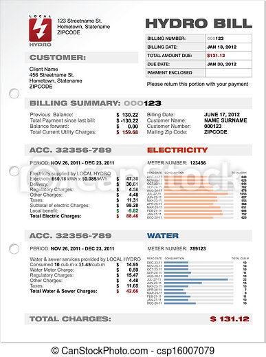 Hydro Electricity Utilities Bill - csp16007079
