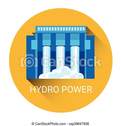Hydro Power Station Icon - csp39647936