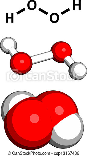 Hydrogen Peroxide H2o2 Molecule Chemical Structure Hooh Is An