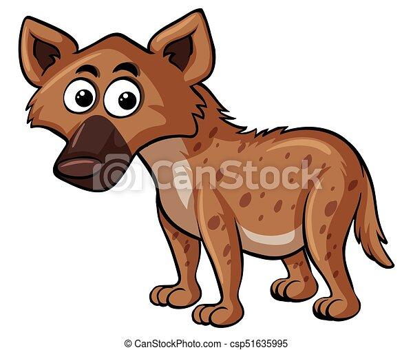 Hyena on white background - csp51635995