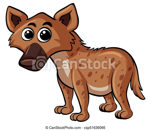 Hyena with happy face - csp51636066