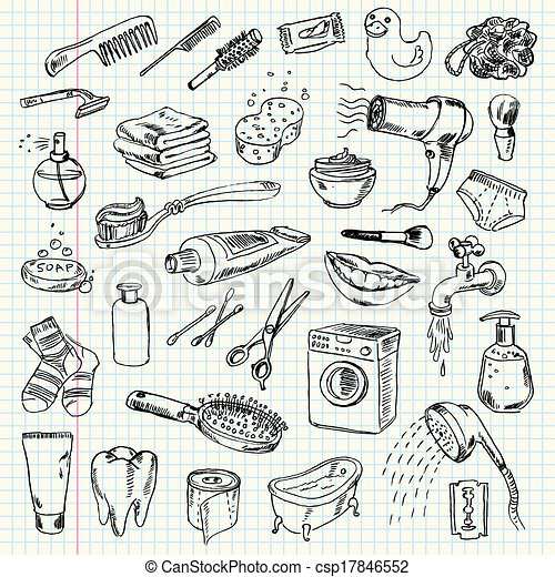 hygiene and cleaning products - csp17846552