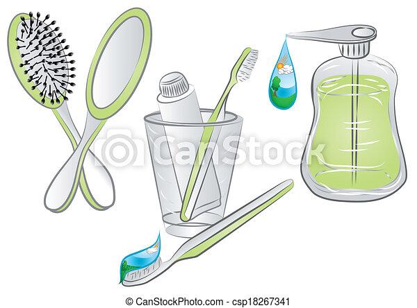 hygiene items - csp18267341
