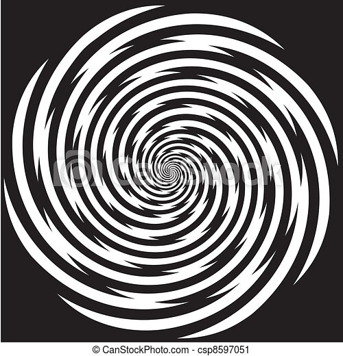 hypnose, conception, modèle spirale - csp8597051