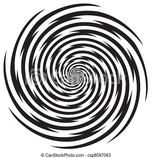 hypnose, ontwerp, spiraalvormig model - csp8597063