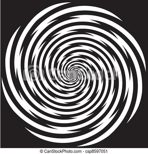 hypnose, ontwerp, spiraalvormig model - csp8597051