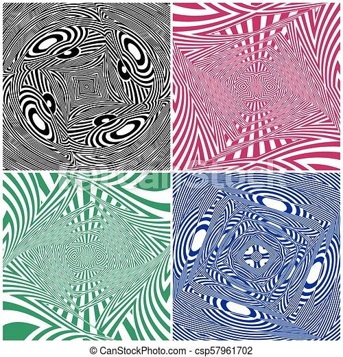 Hypnotic Four Colors Stripe S... - csp57961702