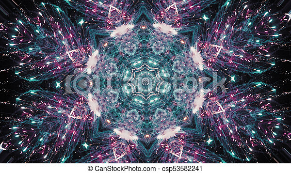 Hypnotic kaleidoscope stage visual loop for concert, night club, music  video, events, show, fashion, holiday, exhibition, LED screens and  projection