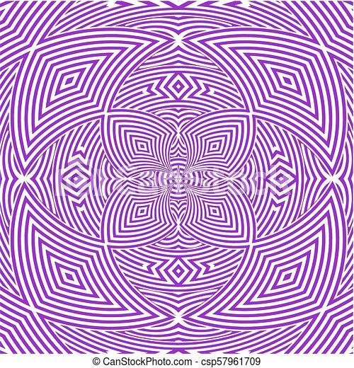 Hypnotic Purple Flower Stripe... - csp57961709