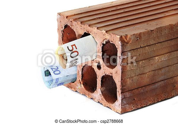 hypothèque, argent, dans, symbolizing, brique, crise - csp2788668
