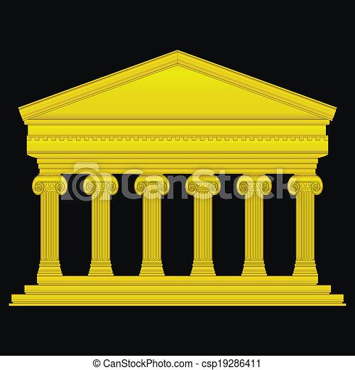 Templo dorado iónico - csp19286411