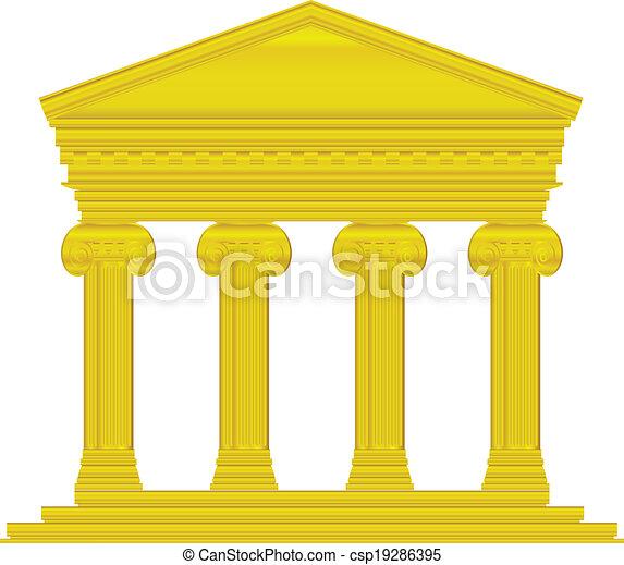 Templo dorado iónico - csp19286395