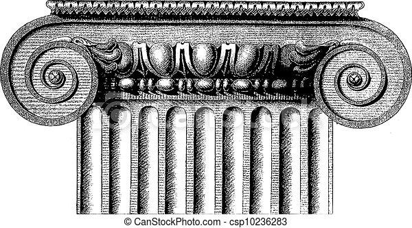 Columna iónica del vector - csp10236283