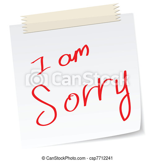 I am sorry apologies a handwritten notes with i am sorry message i am sorry apologies csp7712241 thecheapjerseys Gallery