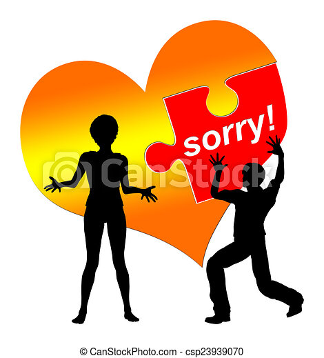 i am sorry man is asking for forgiveness while the woman is rh canstockphoto com clipart sorry for your loss sorry clipart free