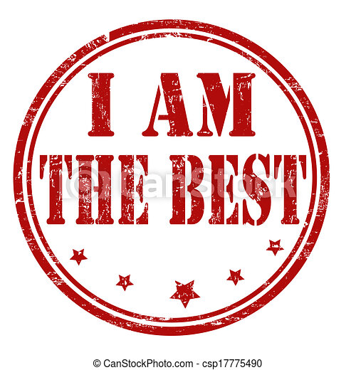 EPS Vectors of I am the best stamp - Grunge I am the best rubber ...