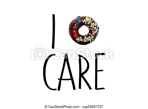 I Do Not Care Funny Text Message Donut Clip Art Search