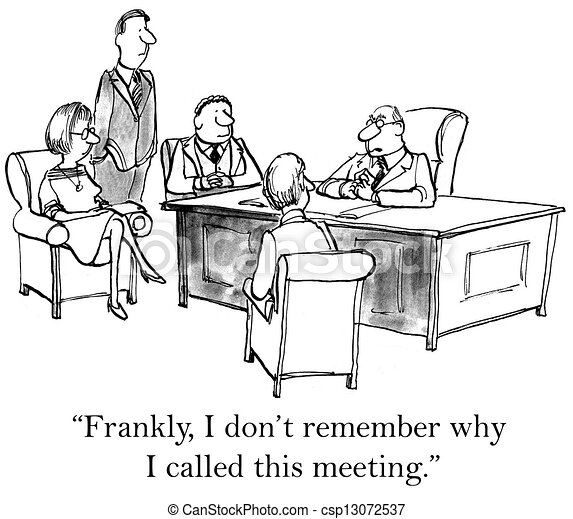 I don't remember why I called meeting - csp13072537