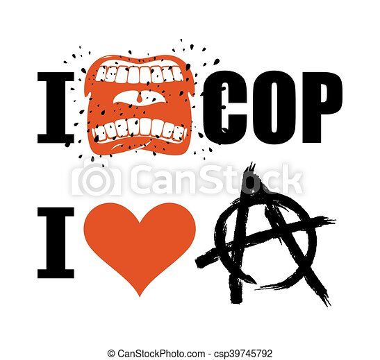 I Hate Cop Loud Cry Of Sign Of Aggression And Hatred For Police I