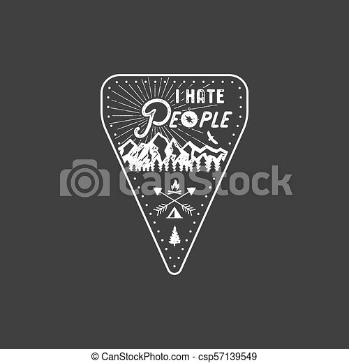 I Hate People T-shirt, Mountain Camping Gift  Funny Tee perfect for any  adventurer, wanderlust lovers or hikers  Vintage distressed style  Cute