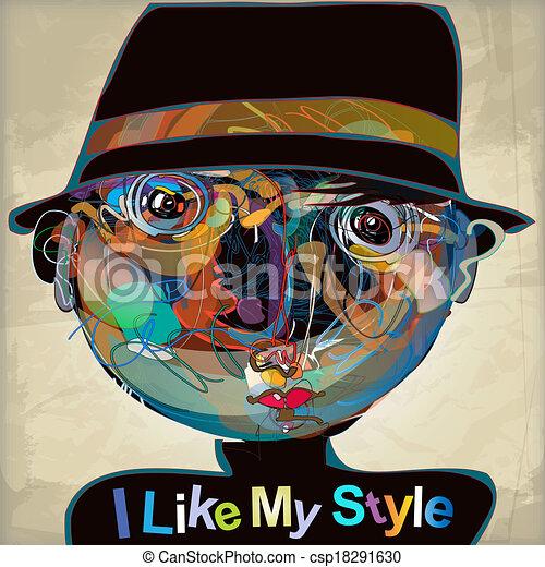 i like my style - csp18291630