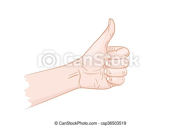 I like thumb up - csp36503519