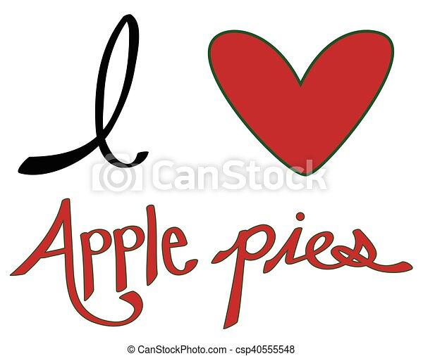 I Love Apple Pies - csp40555548
