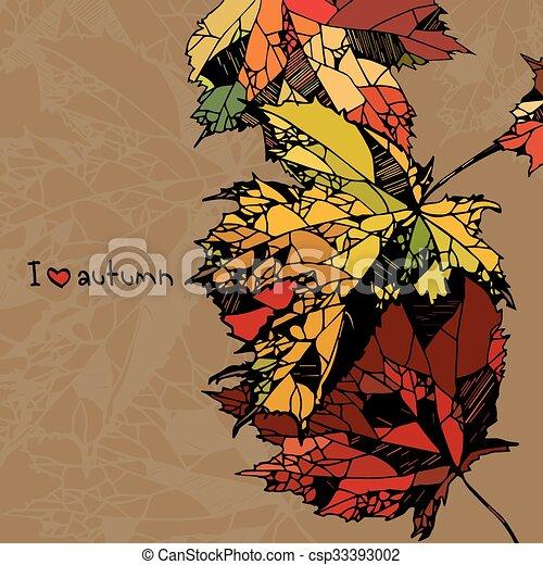 I love autumn - csp33393002