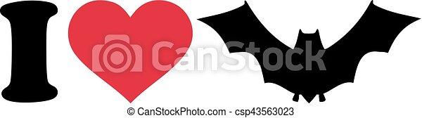 I love Bat Icon - csp43563023