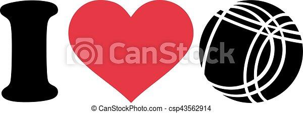 I love Bocce Ball - csp43562914