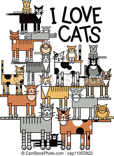 I Love Cats - csp11053922