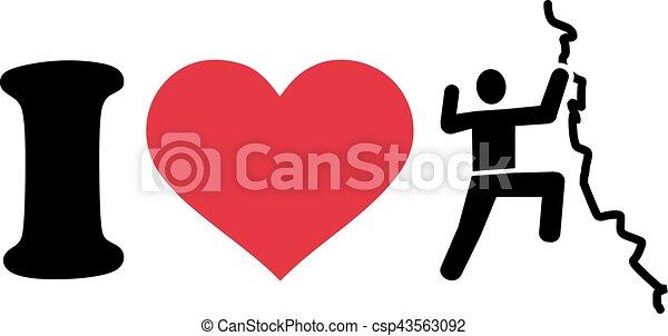 I love climbing icon - csp43563092
