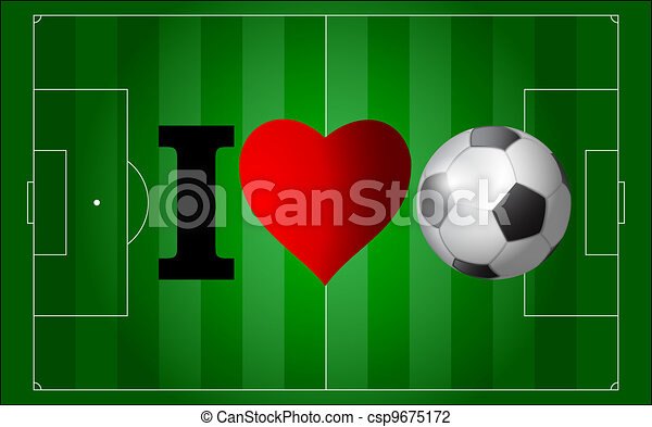 I love football - csp9675172