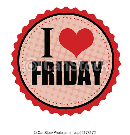 I love friday sticker or stamp csp22173172