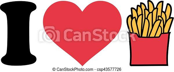 I love fries icon - csp43577726