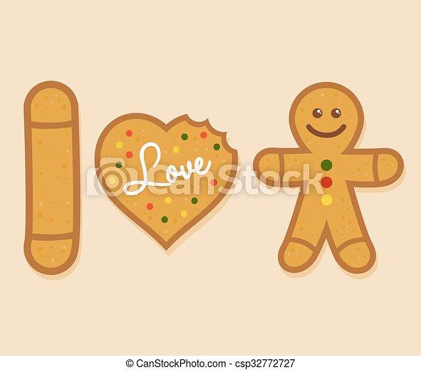 I love Ginger Bread Man - csp32772727