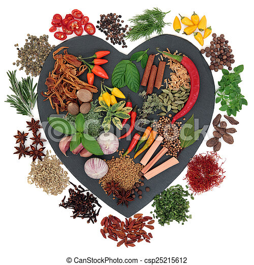 I Love Herbs and Spices - csp25215612