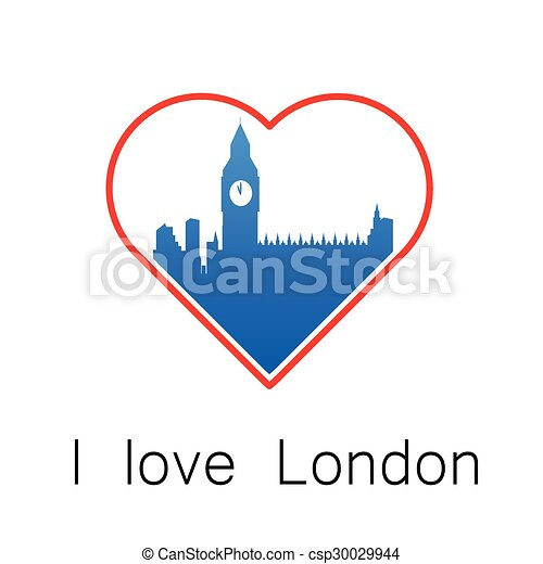 i love London template - csp30029944