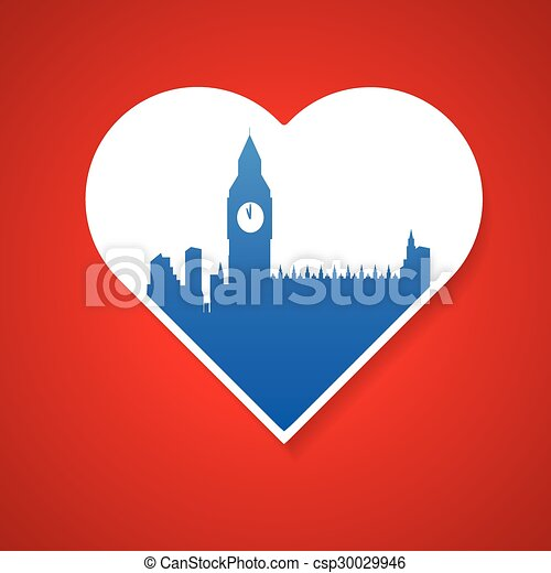 i love London template - csp30029946