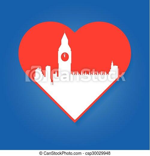 i love London template - csp30029948