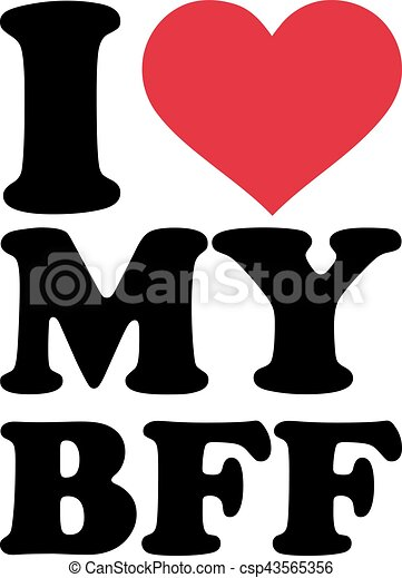 i love my bff best friend forever rh canstockphoto co uk bff clipart free baby clipart black and white