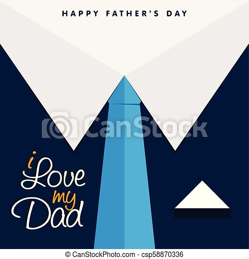 I Love My Dad Happy Father's Day Background - csp58870336