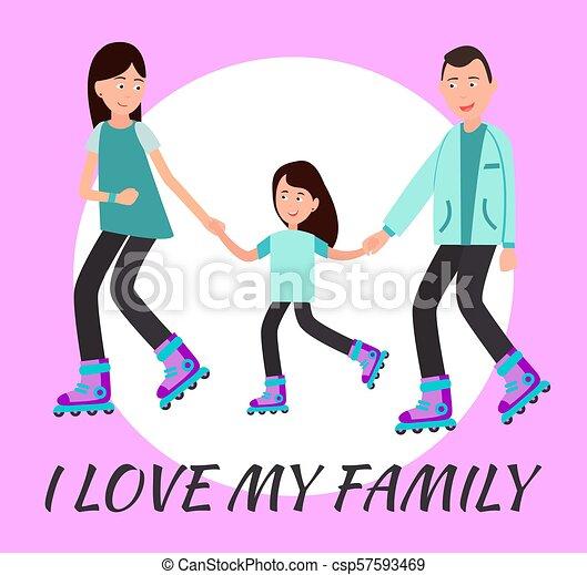 I Love My Family Poster Circle For Text Backdrop I Love My Family