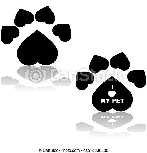 I love my pet - csp18838588