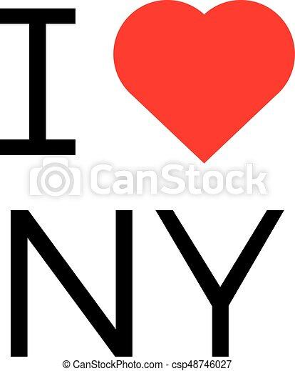 i love ny popular symbol illustration heart new york print vector