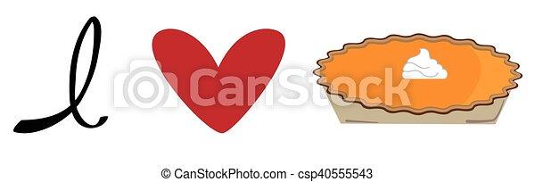 I Love Pumpkin Pie - csp40555543
