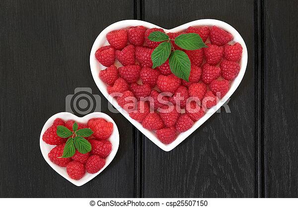 I love Raspeberries - csp25507150