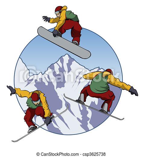 I love snowboarding - csp3625738